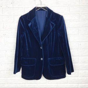 VINTAGE Union made Blue Velvet Blazer